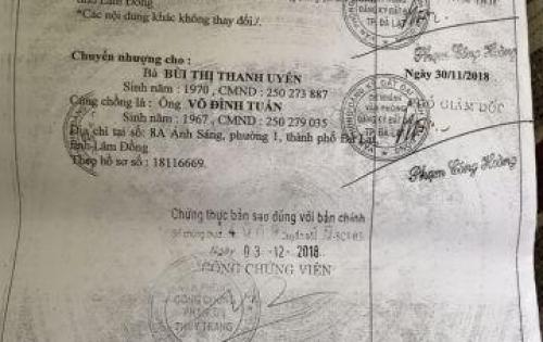 Bán đất XD (225,80 m2) 63A-55A Nguyễn Chí Thanh, P.1, Đà Lạt-17 tỷ-LH Thu (0908982426 - 0982825149)