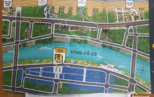 Nhanh tay sở hữu Đất nền biệt thự mặt tiền sông Cổ Cò giá rẻ, Royal villas, Điện Dương, Điện Bàn, QN