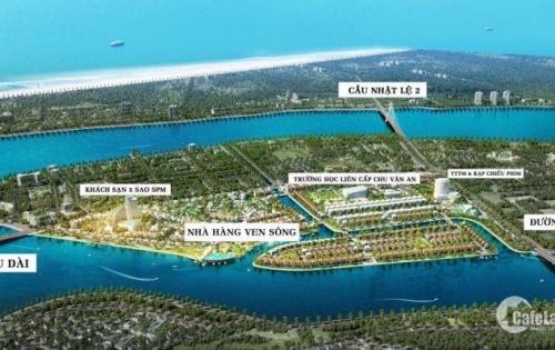 Đất nền biệt thự KHU ĐÔ THỊ HẠNG A Quảng Bình-Phú Hải riverside chỉ 10,5tr/m2.
