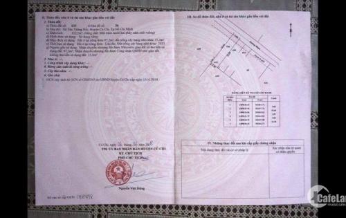 ĐẤT CỦ CHI - XÃ TÂN THÔNG HỘI - SỔ HỒNG RIÊNG - GIÁ ĐẦU TƯ 480 TR