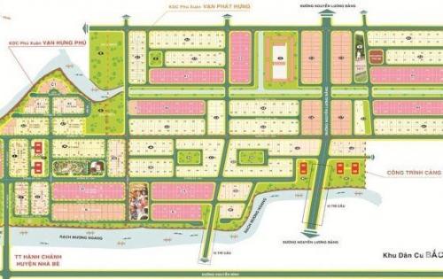 Ban đât dự án KDC vạn hưng phú, nhà bè, DT120m đường 20m, không ky quỹ, lh 0948999478