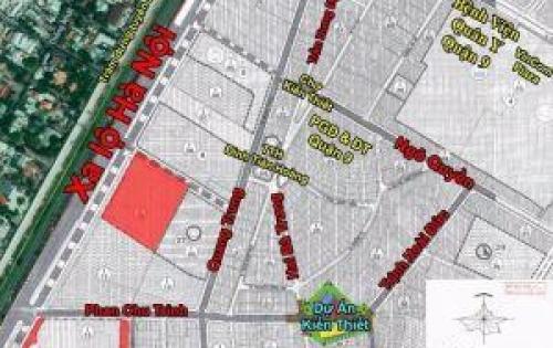 CDT bán đất MT đường chợ Kiến Thiết trung tâm p. Hiệp Phú, q.9. LH: 0347934726