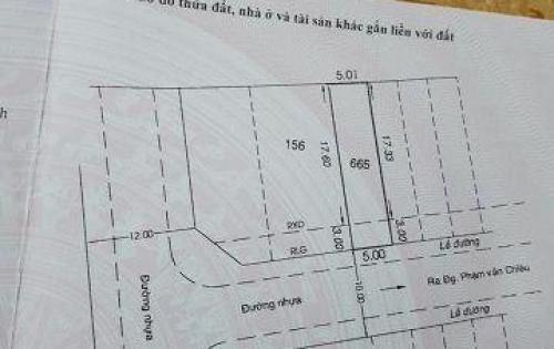 Cần bán đất khu phân lô 5x20,5m - Đường 10m Nguyễn Văn Chiêu, P14, Gò Vấp