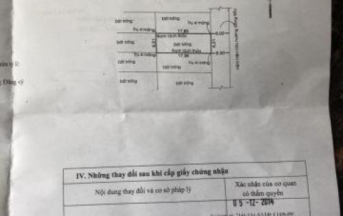 Lô đất hẻm 58 Hoa Bằng thông Gò Dầu, 6.21mx17.85m, P. Tân Sơn Nhì, Q. Tân Phú