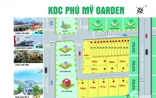 Bán đất chính chủ giá rẻ tại trung tâm thị xã Phú Mỹ, Bà Rịa-Vũng tàu, DT:5x30m,SHR.