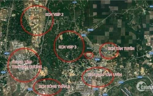 Đất nền ngay chợ Hội Nghĩa, KCN Vsip 3, KCN Nam Tân Uyên đã có sổ riêng từng nền.