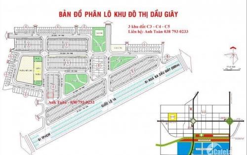 Cần bán nhanh 3 lô đất liền kề (C3, C4, C5) ở dự án Dầu Giây – công ty Cao Su Đồng Nai.