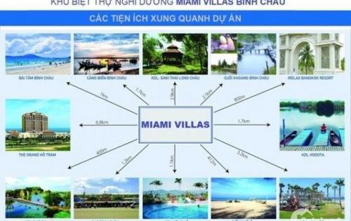 Đất Nền Biệt Thự Liền Kề Biển. Miami Village Bình Châu. Bà Rịa Vũng Tàu, sát QL55