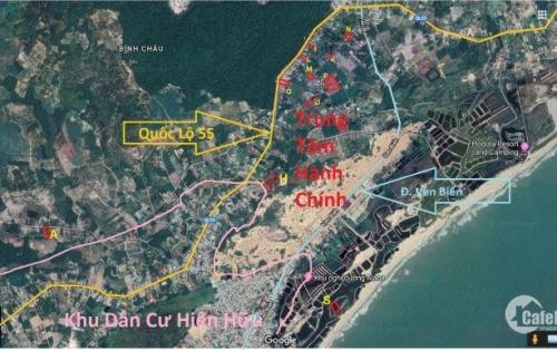Bán đất nền biệt thự nghỉ dưỡng Bình Châu, gần suối nước nóng.