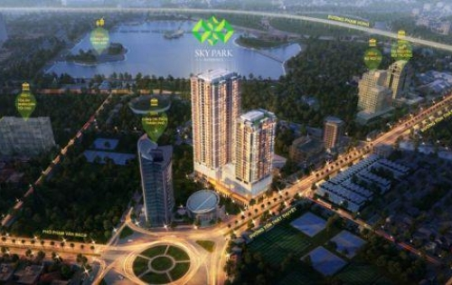 Bán căn hộ đẳng cấp Sky Park Residence, căn 2 phòng ngủ, đầy đủ nội thất sang trọng, view đẹp thoáng gió.