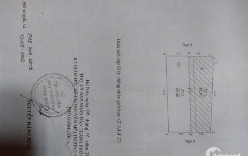 800A Cầu Giấy, Phân Lô Ô Tô, 45m*5T, Giá: 7.4 Tỷ