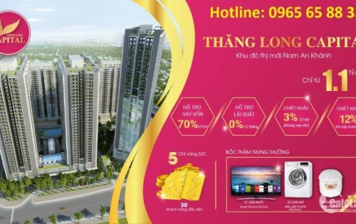 Chỉ 300 triệu sở hữu ngay căn 62m2 Thăng Long Capital lãi suất 0% - 18 tháng. LH 0965 65 88 33