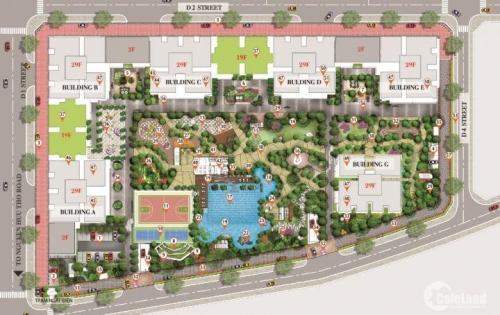Bán căn hộ Sài Gòn South Residence tháp B 2PN giá bán 2.3 tỷ view hướng Bắc