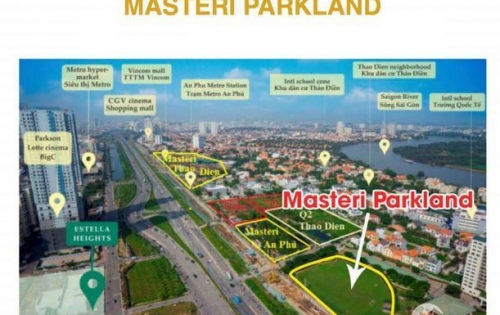 Masteri Parkland - Giữ chỗ 100tr - Sinh lời 20-40%