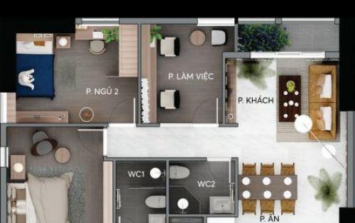 Đang giao nhà, Bán căn hộ Centana Thủ Thiêm, Phường An Phú,Quận 2, 97m2 giá 3 tỷ 550