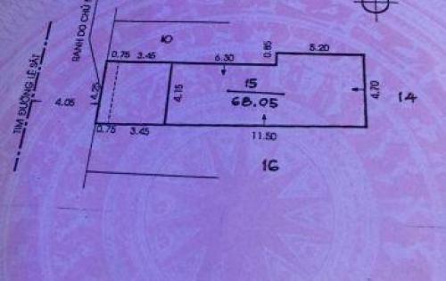 Mặt tiền Kinh doanh Lê Sát 4,25x15.7 nở hậu 4,7m giá 7,6 tỷ