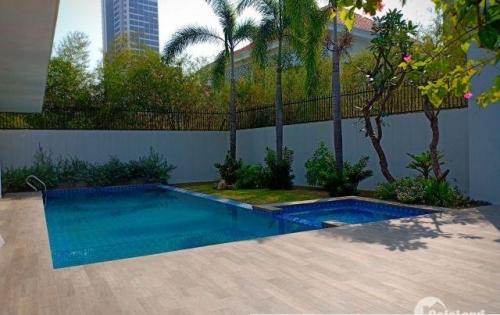 Villa phường Thảo Điền có Hồ bơi đẹp không gian mở. Cho thuê giá 186tr/th LH Hoàng Nguyễn