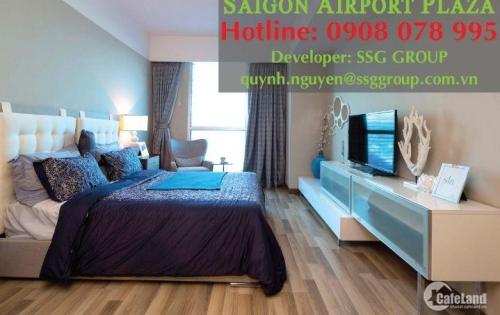SAIGON AIRPORT PLAZA_Cho thuê CH 1PN 59m2,view đẹp, đủ nội thất. Lh Hotline PKD SSG 0908 078 995 xem nhà ngay