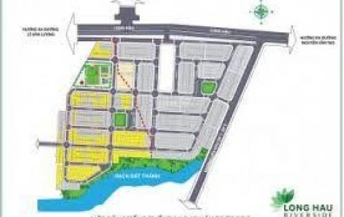 Bán đất nền mặt tiền KCN LONG HẬU , giáp Nhà Bè