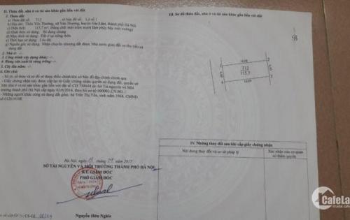Bán đất xã Yên Thường, Gia Lâm 115m2, MT 6,4m. Liên hệ 0983128246