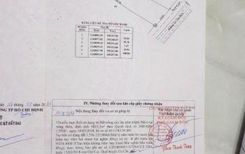 Chính chủ bán đất Củ Chi, mặt tiền Võ Văn Bích, diện tích: 2071,3 m2, giá 11 triệu/m.  Liên hệ: Thảo - 0978 228 756