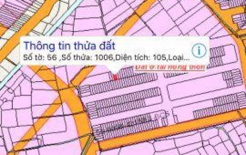 Chính chủ cần bán lô giai đoạn 2, dt 105m2, đường 22m trục chính, qui hoạch bên trường học, tại kdc An Thuận 0868292939