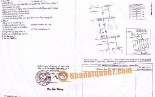 Bán gấp lô đất 2 mặt tiền Đường Số Lý Phục Man, P. Bình Thuận, Q7