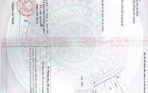 Bán đất đường Nguyễn Duy Trinh, phường Long Trường, Quận 9, LH 0916372826