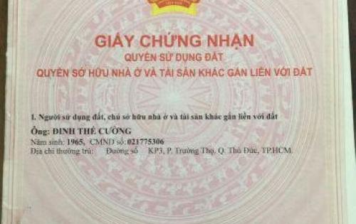 Cần bán gấp lô đất đường MT Lã Xuân Oai, quận 9. Giá: 900tr/100m2. SHR. LH: 0376990321 Danh
