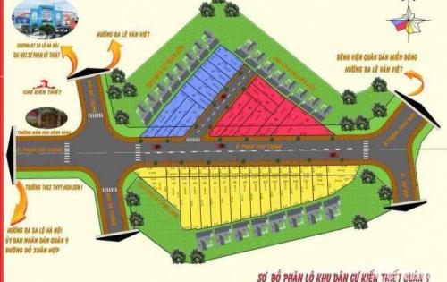 Bán đất Hiệp Phú, quận 9 mặt tiền kinh doanh khu kiến thiết