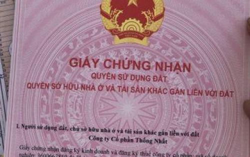 Đất Ngay Mặt Tiền Quốc Lộ 1A Xã Sông Trầu, H.Trảng Bom Sổ Hồng Riêng, Thổ Cư 100%. 0968.674.275