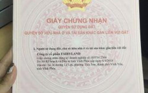 25 lô đất cuối cùng ở trung tâm TP. Vĩnh Yên Fairy Town