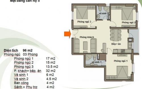 [ebu.vn] Cần bán căn 3PN tầng trung Green Park Tower giá tốt