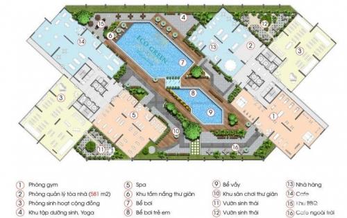 Trả trước 320 tr ký hđmb sở hữu căn hộ 2PN dự án Eco Green Saigon Q7,  NH hỗ trợ 70% Lh 0938677909