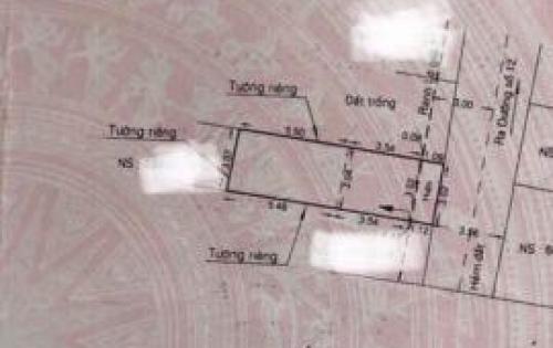 Chính chủ cần bán gấp nhà hẻm xe hơi Tân Kỳ-Tân Quý, P. Bình Hưng Hòa, Bình Tân DT: 33m2, giá 2.4 tỷ.