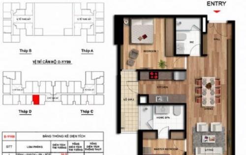 [ebu] Bán căn hộ 09 tòa D, DT 80.3 m2 thông thủy, 2.85 tỷ bao phí sang tên
