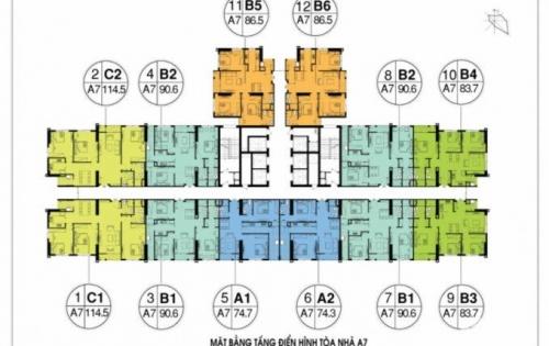 Thu hồi vốn bán chung cư An Bình City, T17 giá 27tr/m2.