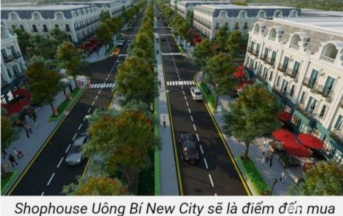 Nhà phố thương mại, shophouse Uông Bí New City sổ đỏ trao tay, giá tốt