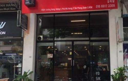 Shop Hưng Vượng 230m2 mặt tiền Bùi Bằng Đoàn, Phú Mỹ Hưng cần cho thuê
