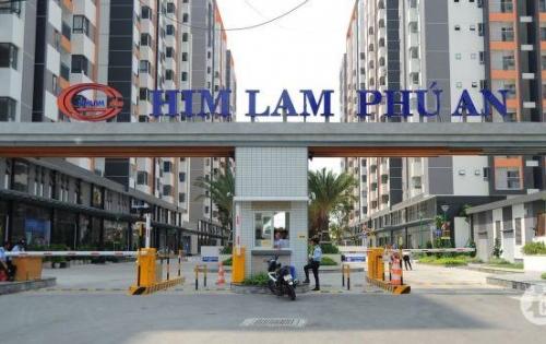 Chính chủ căn cho thuê căn góc hướng Đông Nam lầu 7 Him Lam Phú An, giá 7 triệu/tháng bao PQL + rèm