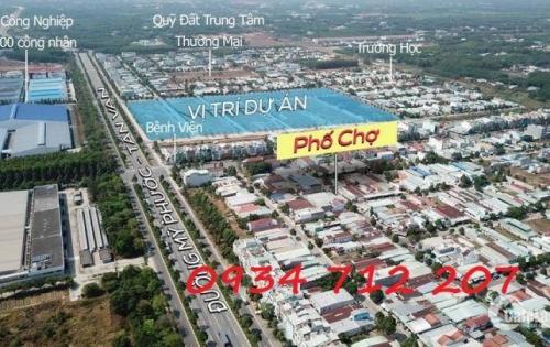 Cần bán nhanh lô đất khu phố CHỢ KCN thích hợp kinh doanh, đầu tư giá rẻ. Lh: 0934 712 207