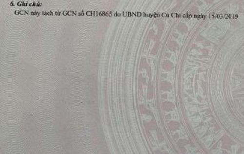 Đất chính chủ , mặt tiền Võ Văn Bích , Thổ cư 100%.