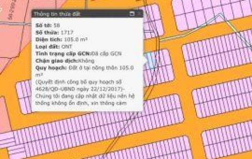 Chính chủ cần bán 1 lô lốc L7, DT 105m2, hướng Tây Bắc, SHR, xây dựng ngay,vị trí đẹp nhất tại KDC An Thuận, 0868.29.29.39