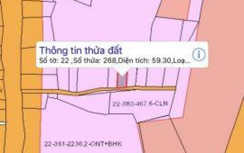 Bán gấp 59m2 đất ấp 2 Tam An , Long Thành