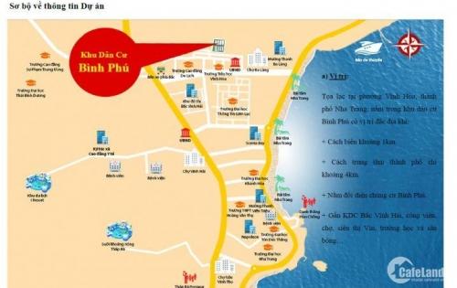 Mở bán 6 lô đất khu dân cư Bình Phú, sổ hồng, cách biển 1km