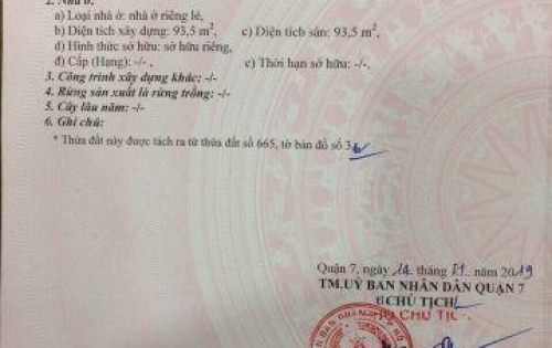 Chính chủ bán đất thổ cư sổ hồng riêng sát chợ Tân Quy giá 6 tỷ LH 0932.895.192