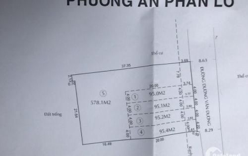 Hàng hiếm 4 lô đất MTKD Dương Văn Dương. Ngay Aeon, 4x 24m, Giá 10.5 tỷ/1 lô