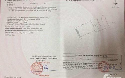 Bán 240 m2 đất đường Nguyễn Trực đầu tuyến Sơn Trà Đà Nẵng,MT 12m cách CV Đại Dương 100m.0905.606.910