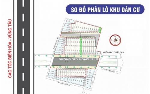 Mở bán duy nhất 12 nền 100m2 SHR mặt tiền đường 32m ngay TX Phú Mỹ.