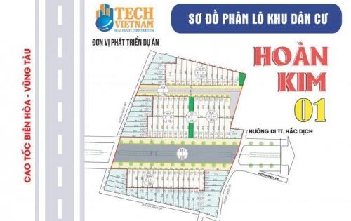 Đất thổ cư chợ Hắc Dịch 100m2 ngay KCN giá 499tr/ nền sổ hồng riêng.